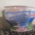 geschmolzener Joghurtbecher